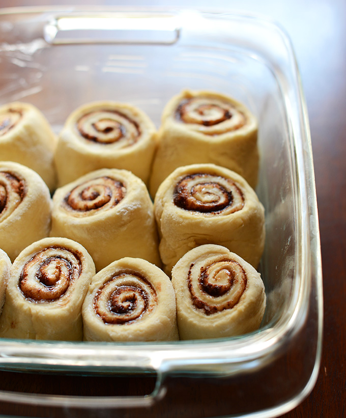 Pan of our simple Cinnamon Rolls recipe