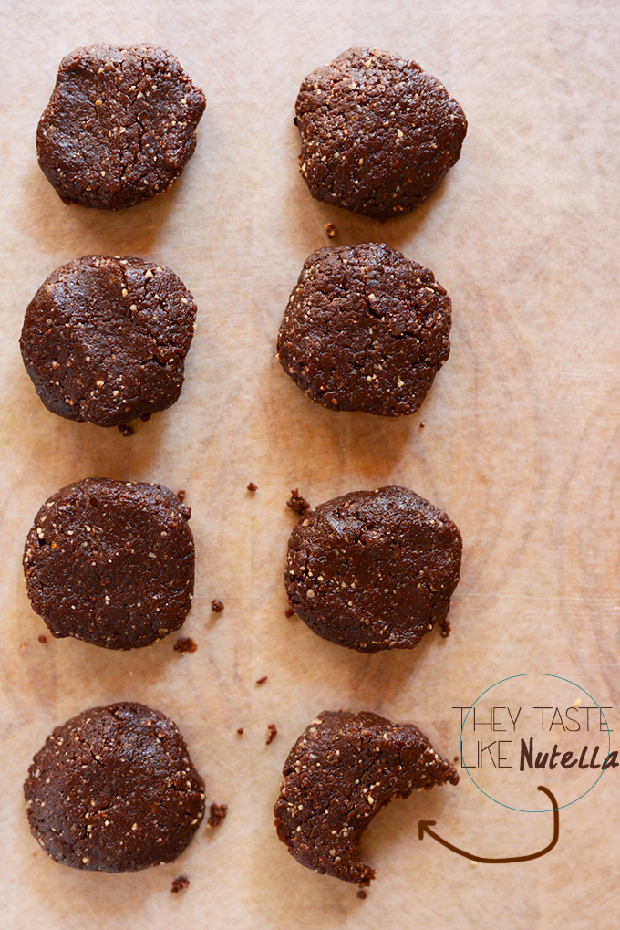 Batch of Bacio No-Bake Cookies on a piece of parchment paper