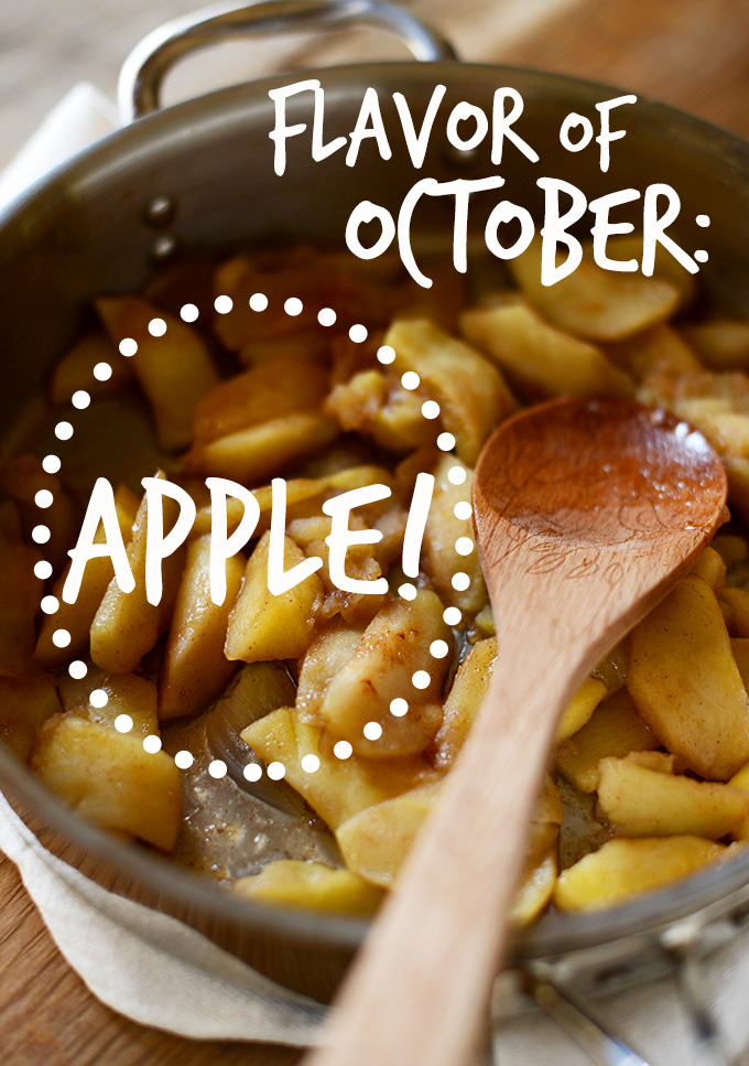 Skillet of baked apples for our Flavor of October