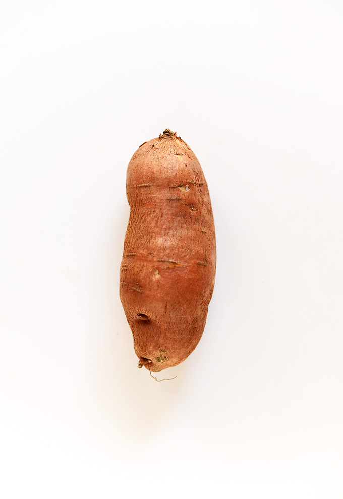 Whole sweet potato for making delicious homemade granola
