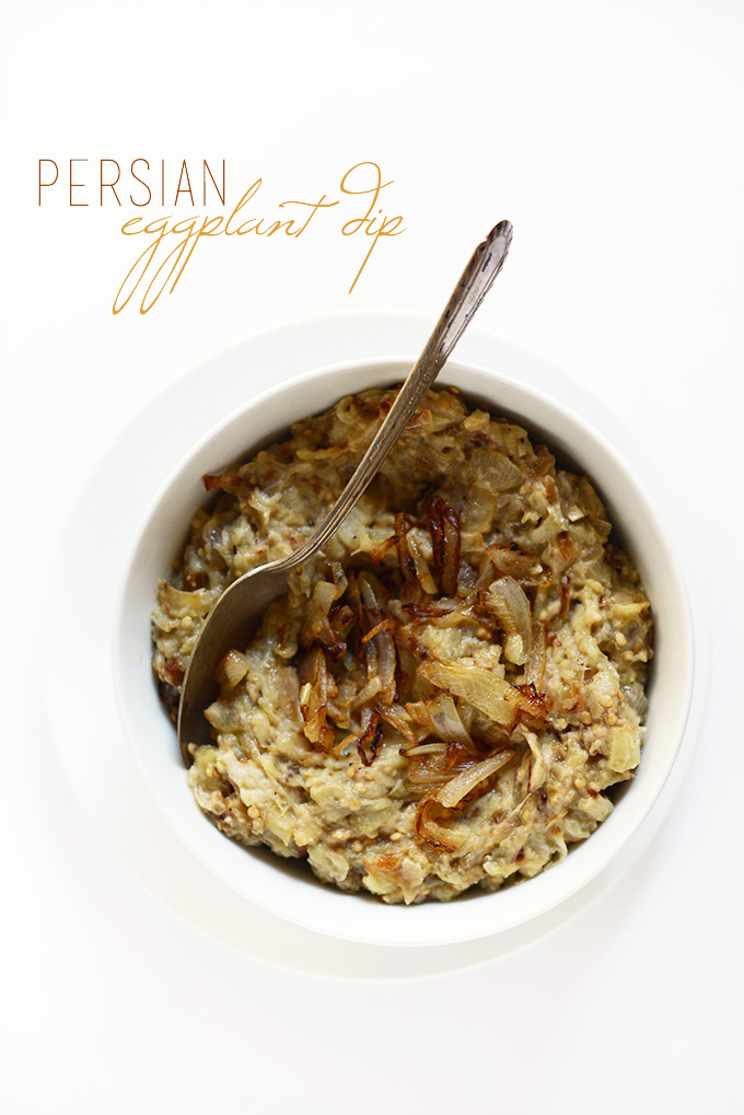 Bowl of Persian Eggplant Dip for a delicious appetizer