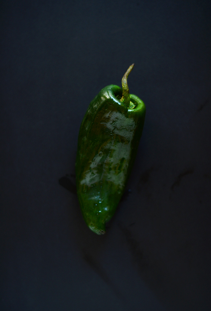 Poblano Pepper for making our Poblano and Portobello Fajitas recipe