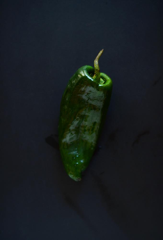 Poblano Pepper for making our Poblano and Portobello Fajitas recipe