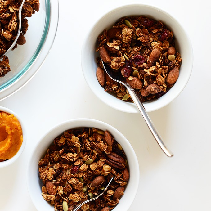 Bowls of our Sweet Potato Granola recipe