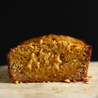 Loaf of Gluten-Free Banana Bread made with butternut squash