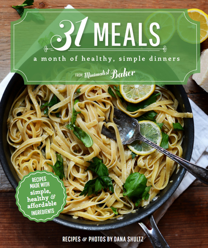 Cover photo for the 31 Meals Cookbook featuring healthy simple recipe