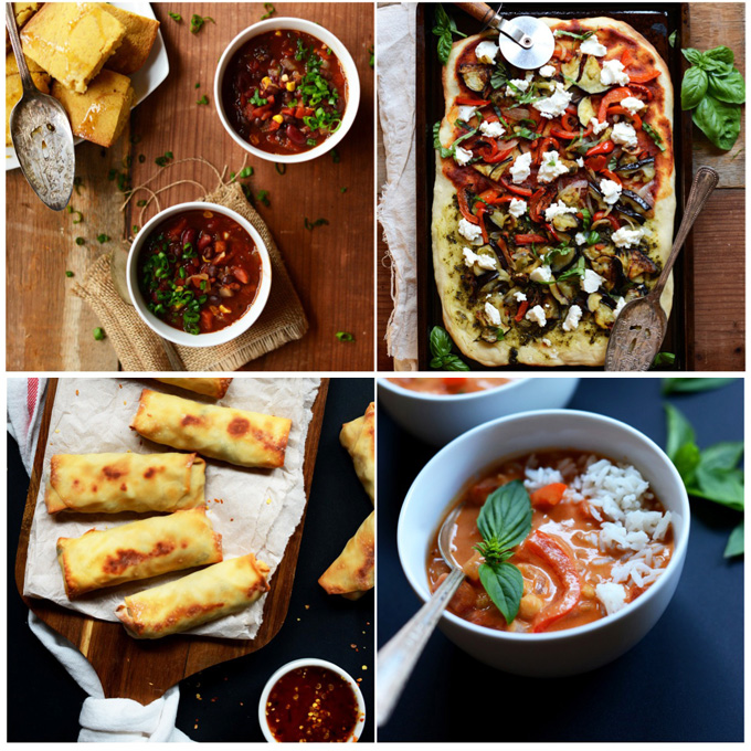 Collection of photos of recipes in our 31 Meals Cookbook