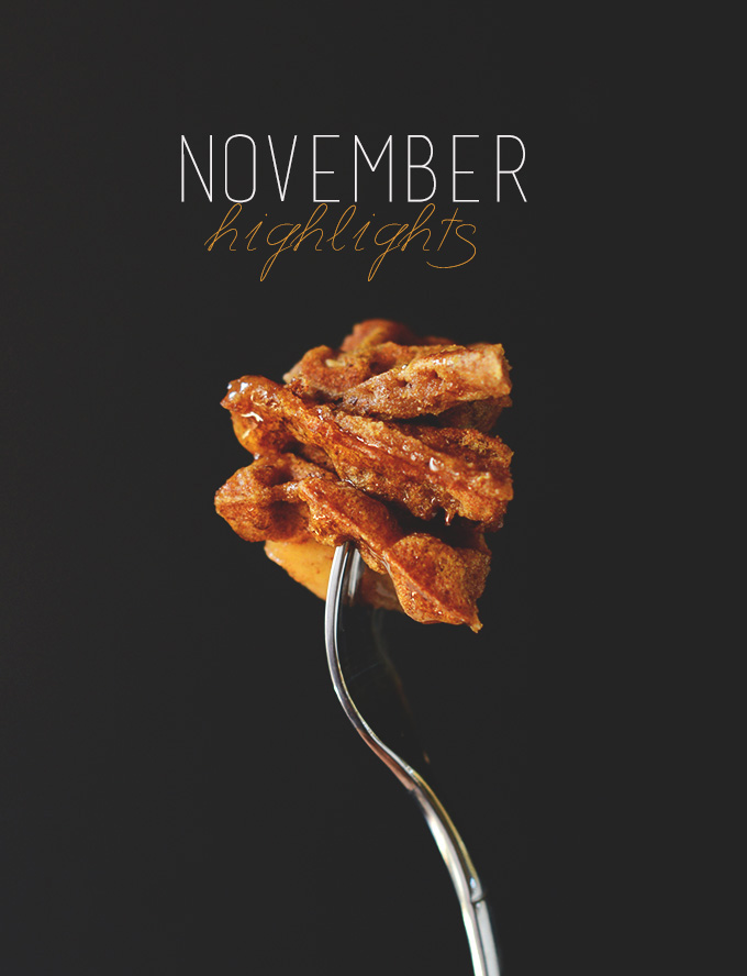 Fork with a bite of waffles to represent November Highlights