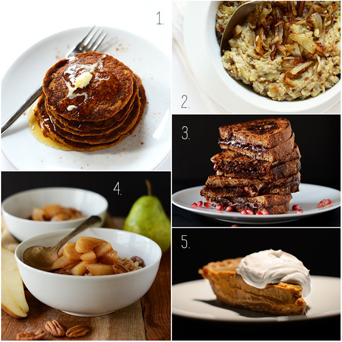 Collection of recipe photos for our November Highlights post