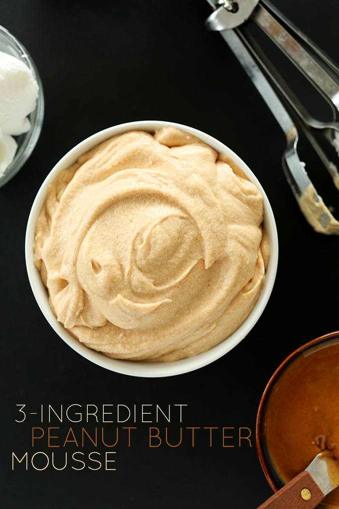 '3-INGREDIENT PEANUT BUTTER MOUSSE | MINIMALISTBAKER.COM #minimalistbaker' from the web at 'https://minimalistbaker.com/wp-content/uploads/2013/12/3-INGREDIENT-PEANUT-BUTTER-MOUSSE-MINIMALISTBAKER.COM_.jpg'