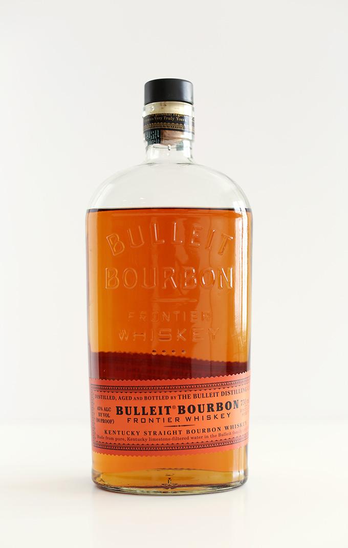 Bottle of bourbon for making drinks