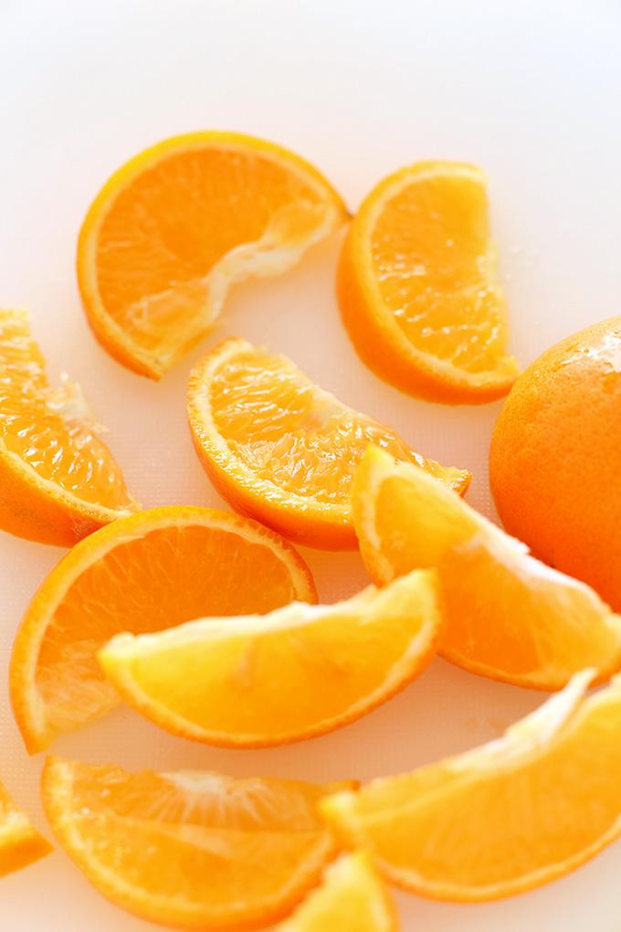 Fresh orange slices for making drinks