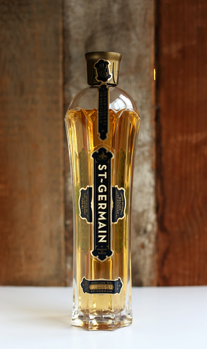 Bottle of St. Germain for making homemade spritzers