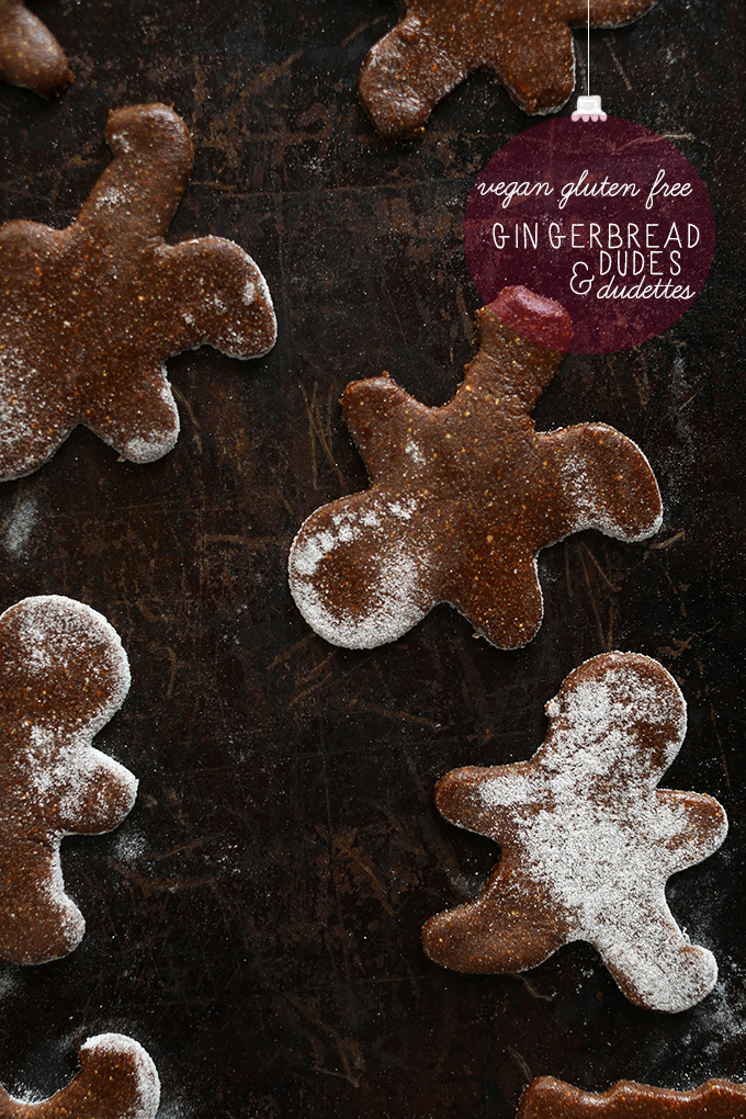 Baking sheet with freshly baked Vegan Gluten-Free Gingerbread