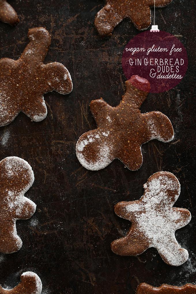Baking sheet with freshly baked Vegan Gluten-Free Gingerbread