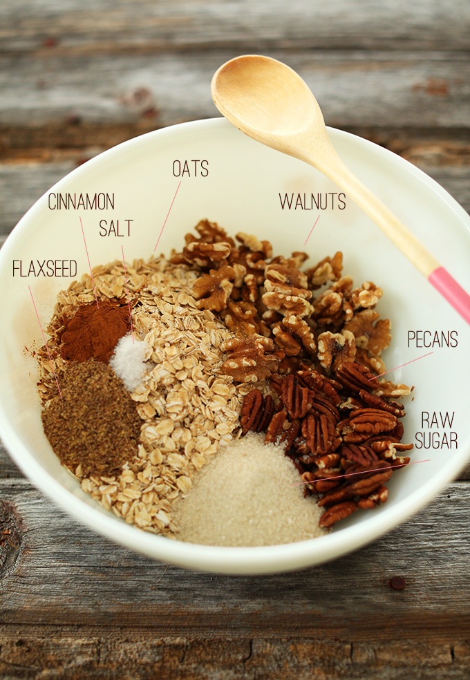 Banana Bread Granola Ingredients #minimalistbaker
