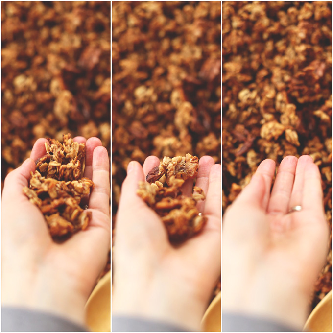 Handfuls of Banana Bread Granola