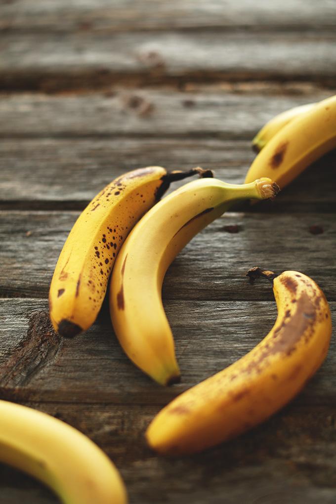 Ripe bananas for making homemade granola