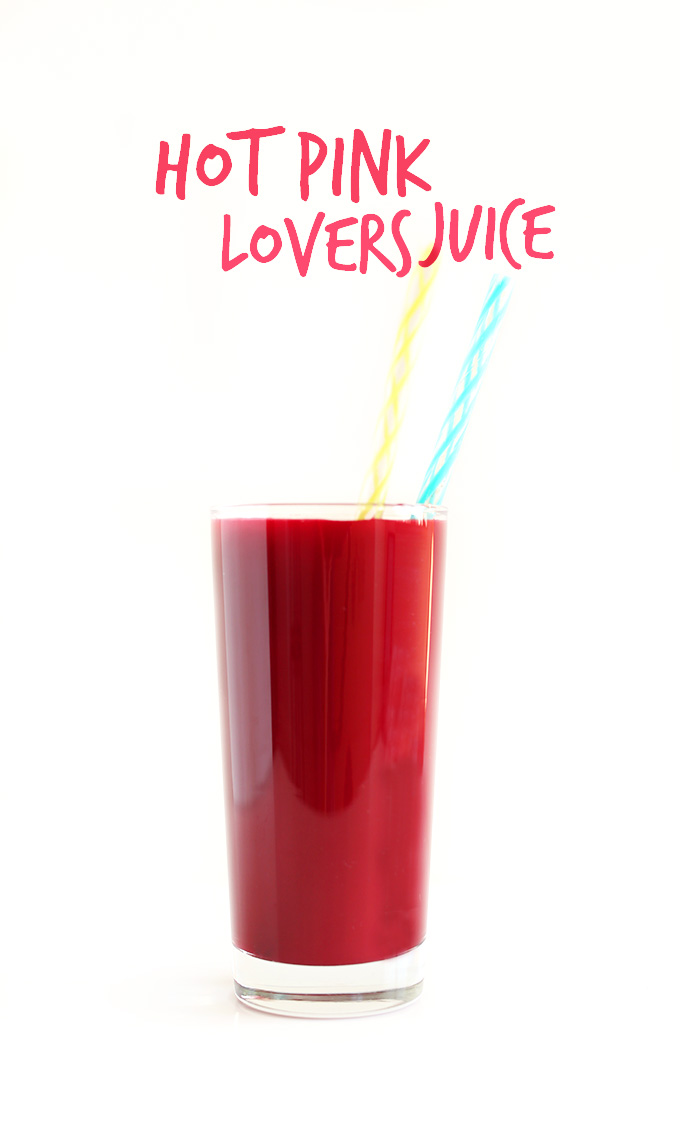 Hot Pink Lover's Juice! 6 fruit and veg in ONE amazing juice | minimalistbaker.com #minimalistbaker