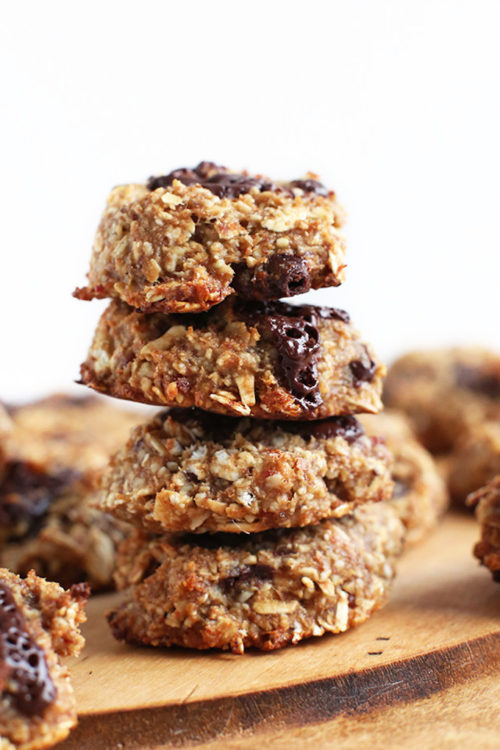 Stack of our easy to make Vegan Oatmeal Cookies recipe