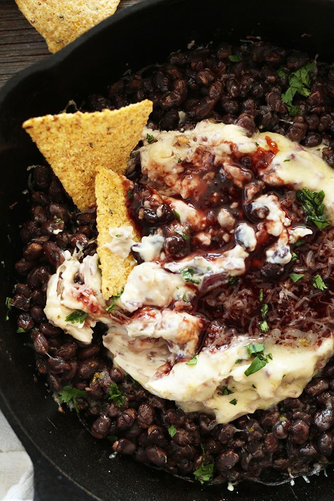 Raspberry Chipotle Black Bean Dip! Simple, quick and SO full of flavor | #vegan dip #minimalistbaker