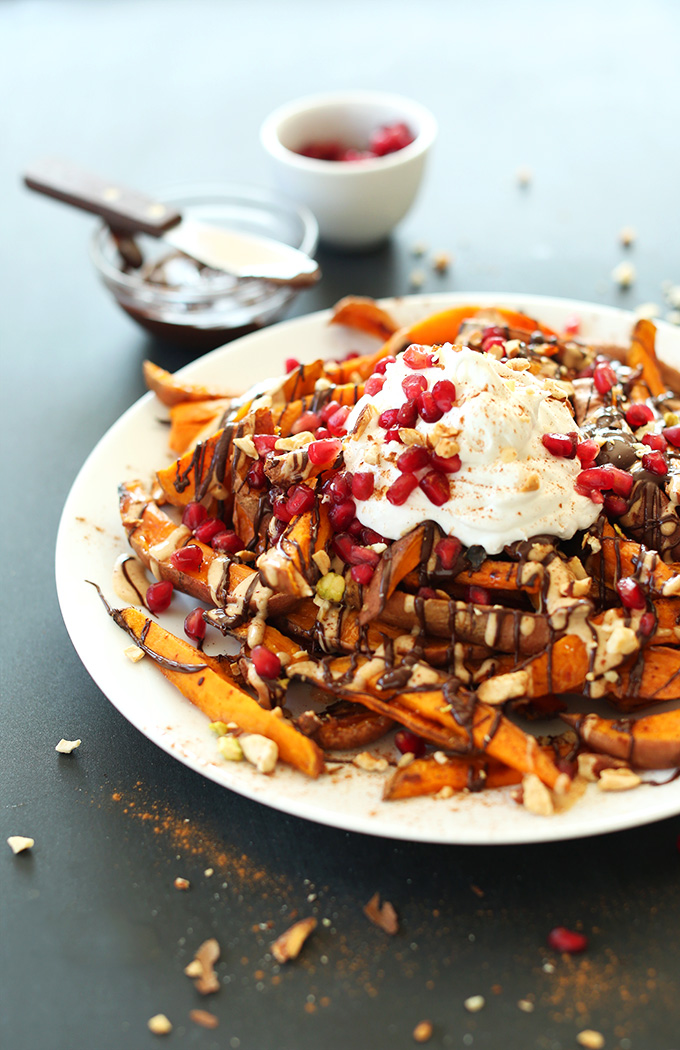 Gluten-free vegan dessert of Sweet Potato Superfood Dessert Fries