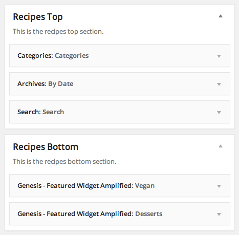 Recipes section example for Foodie Pro Theme