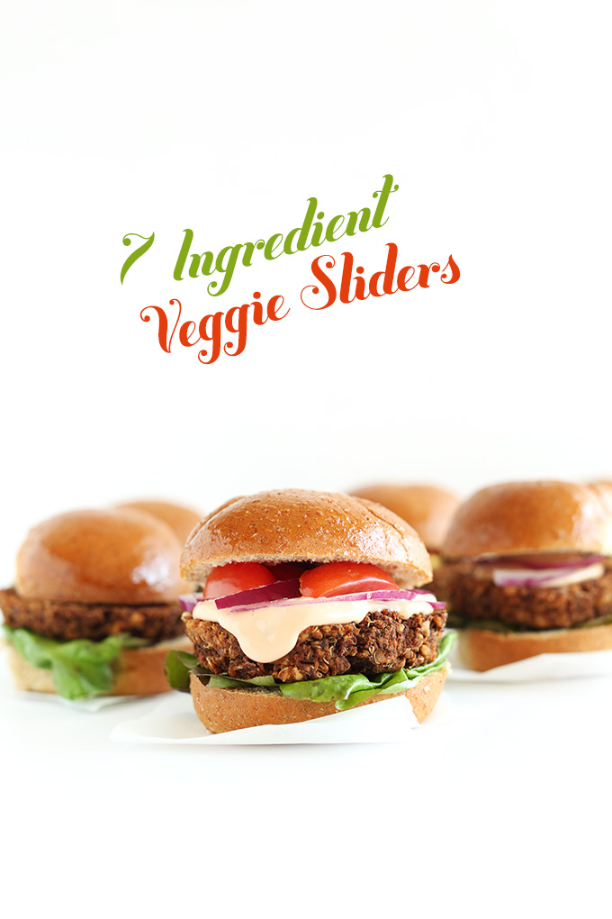 7-Ingredient Veggie Sliders! #minimalistbaker