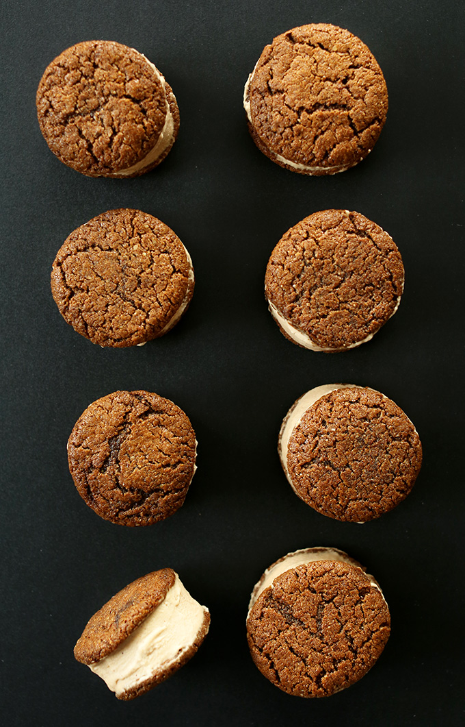 Gluten-Free Ice Cream Sandwiches made with Ginger Cookies