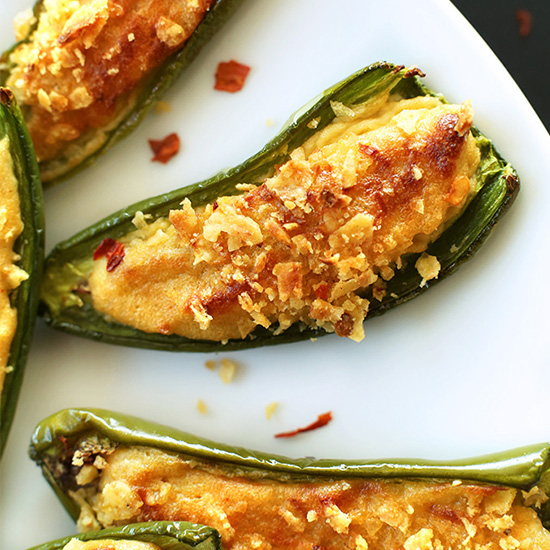 Plate of Vegan Jalapeno Poppers