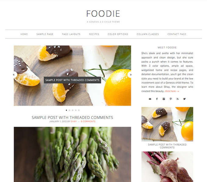 foodie child theme for genesis review