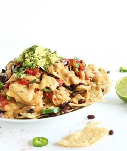 Fast, easy, and filling Vegan Nachos for a delicious dinner