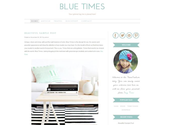 blue times theme