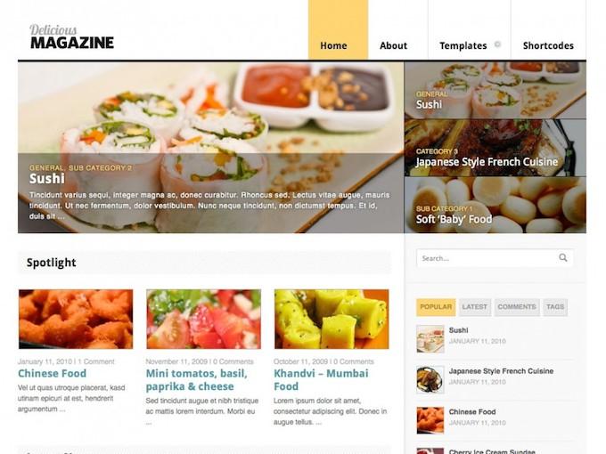 delicious magazine theme