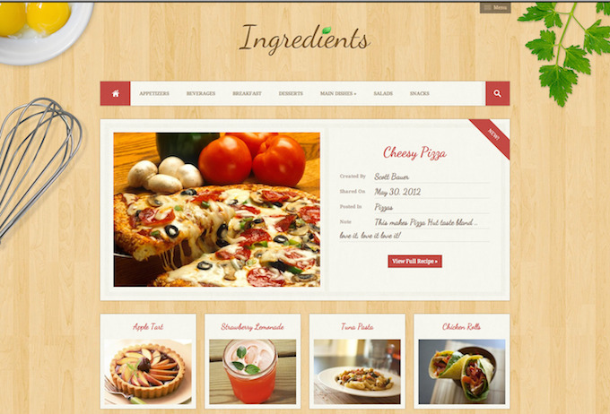 ingredients theme