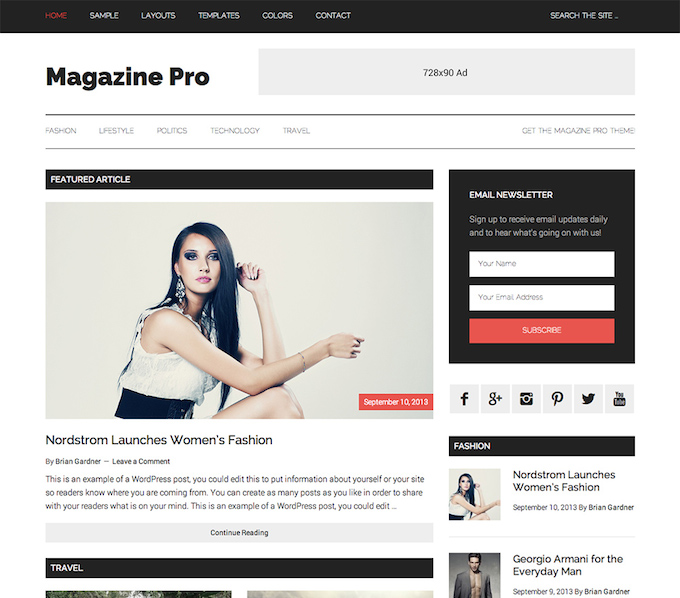 magazine pro wordperss theme