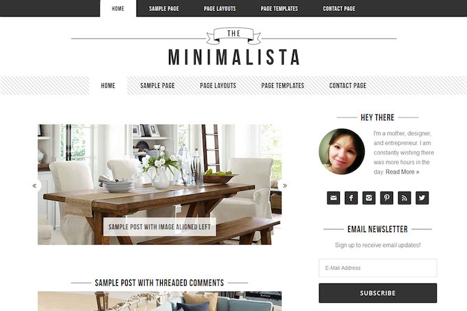minimalista theme