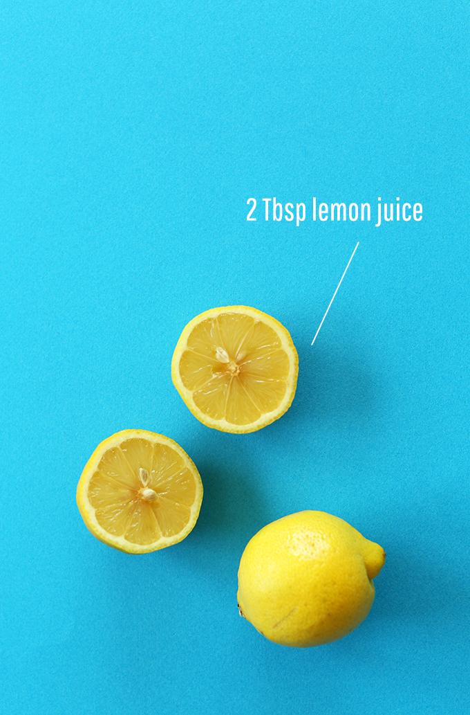 Fresh lemon for making homemade hummus
