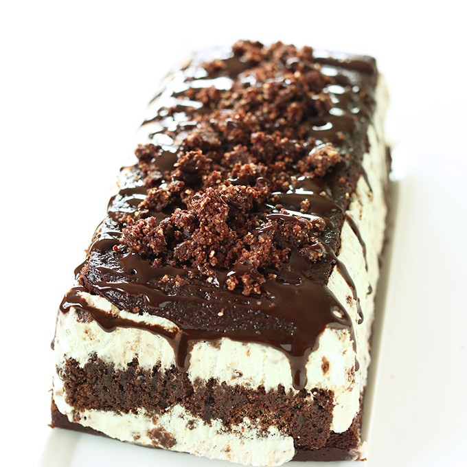Vegan Chocolate Mint Ice Cream Cake for the ultimate birthday treat