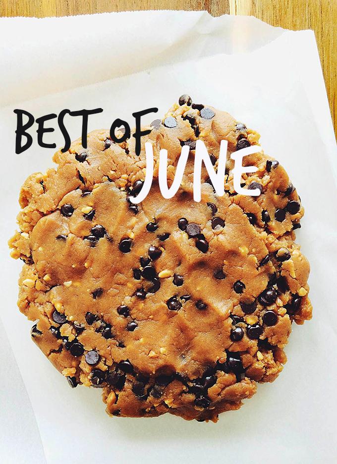 Vegan Peanut Butter Cookie Dough representing our Best of June 2014 post