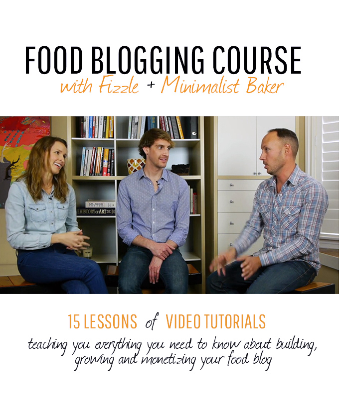 Picture representing our Food Blogging Course on Fizzle