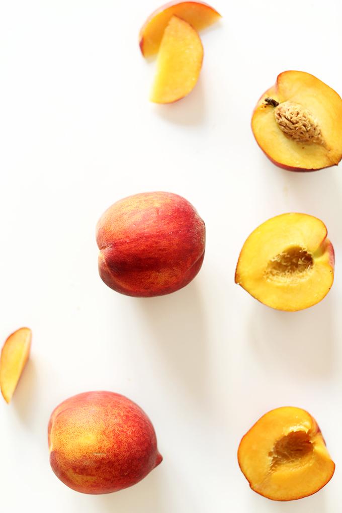 Fresh peaches for making our Peach Iced Tea recipe