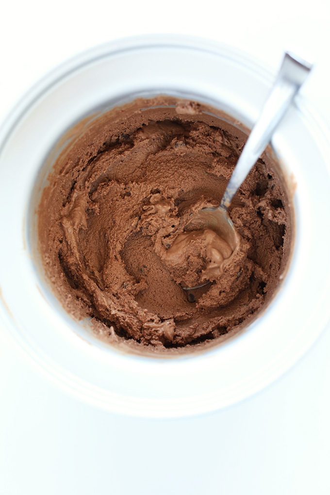 Homemade Vegan Chocolate Soft Serve for making homemade blizzards