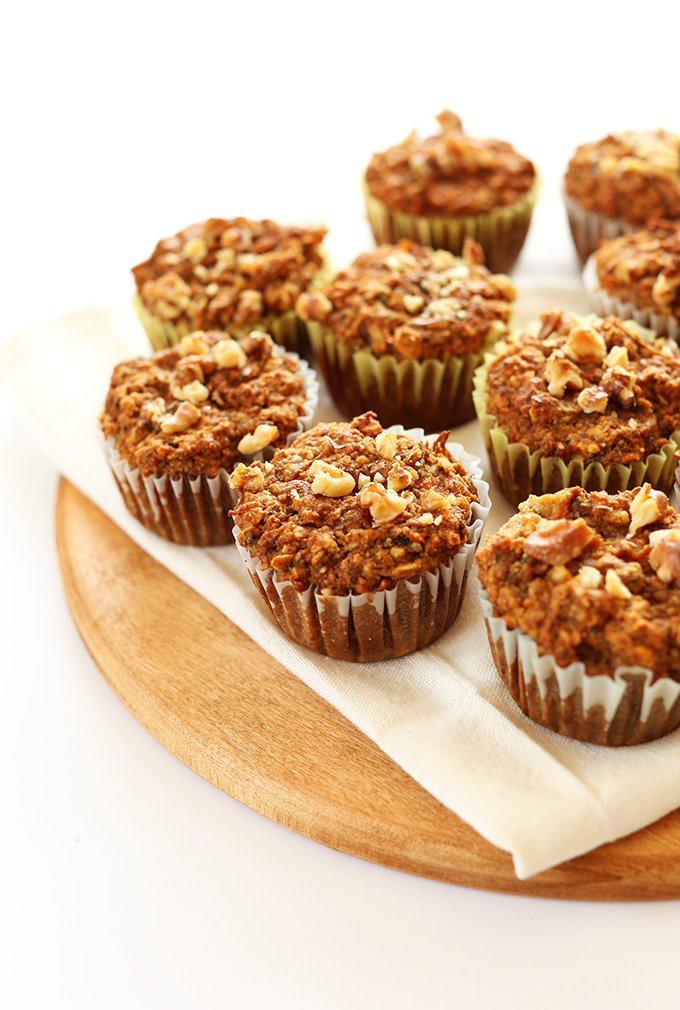 Batch of our Vegan Gluten-Free Carrot Muffins recipe