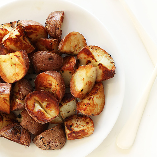 Bowl of Crispy Vegan Breakfast Potatoes