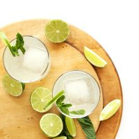 Fresh limes, mint, and two Coconut Gin and Tonics