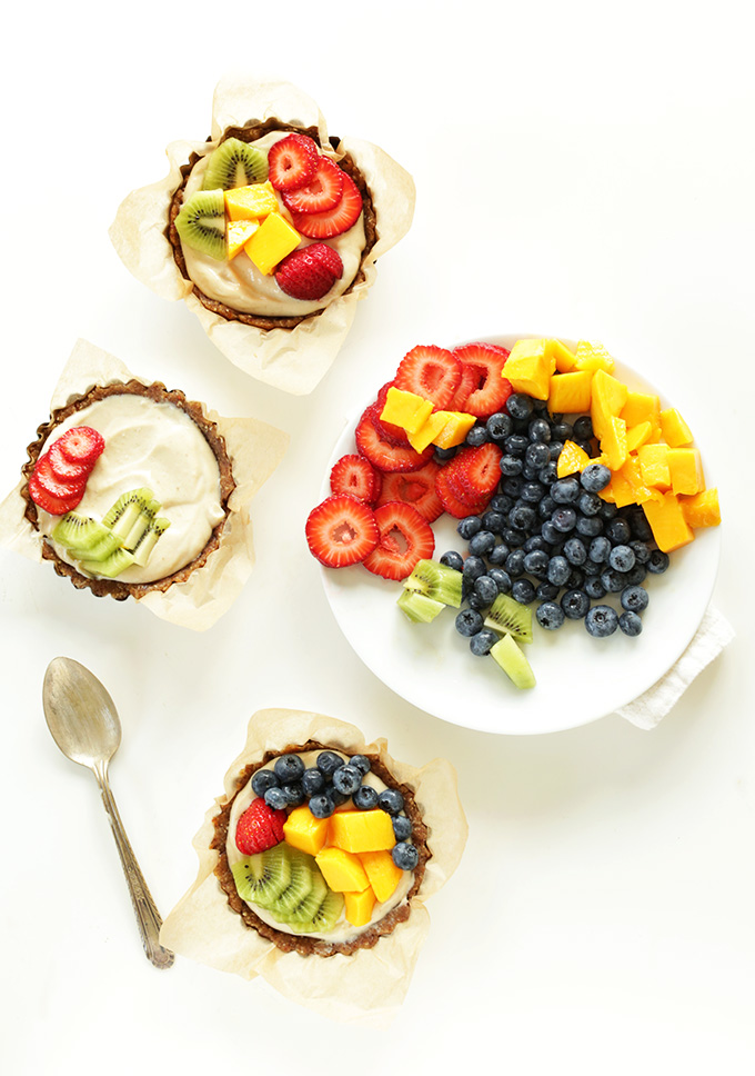 Fresh Fruit Tarts and a plate of fruit for decorating them