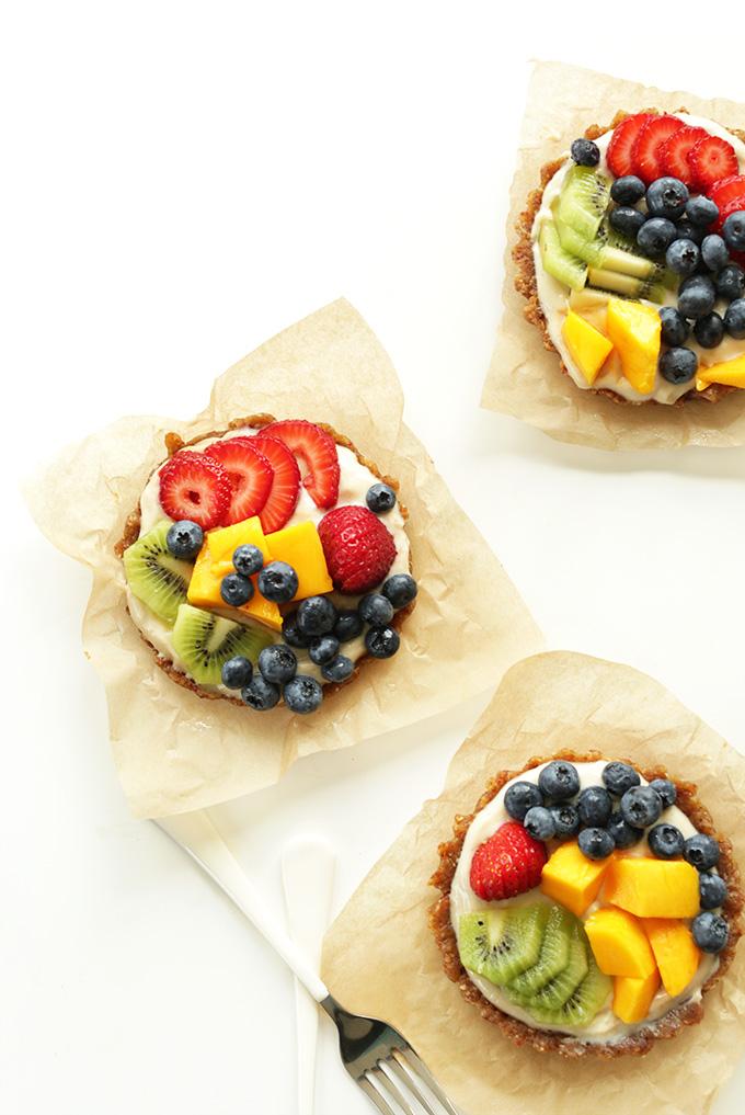 Lemon Cookie No Bake Tarts on parchment squares