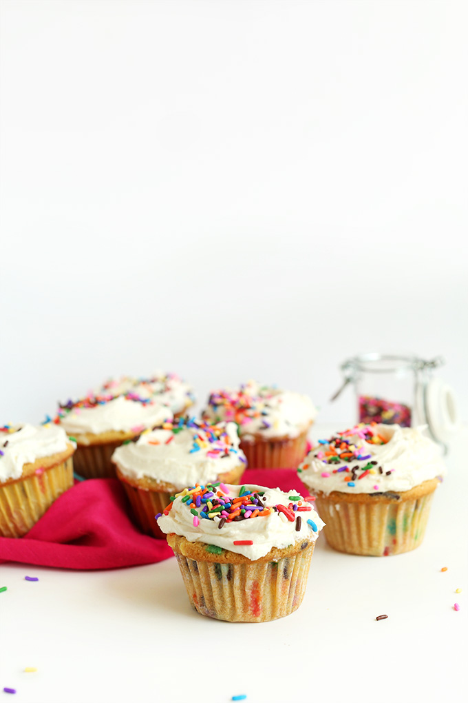 Batch of our Vegan Funfetti Cupcakes recipe