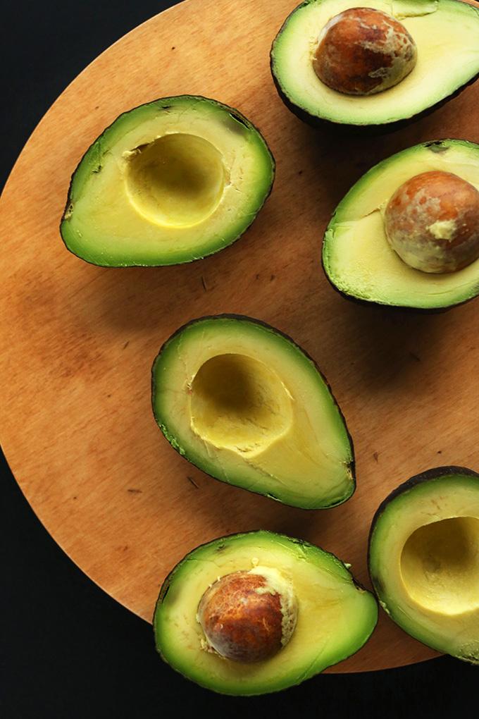 Fresh avocados for making vegan Chocolate Avocado Pudding